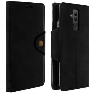 Sixties Style Flip Cover Huawei Mate 20 Lite, Standcase mit Geldbörse - Schwarz