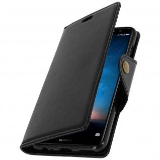 Klappetui, Cover mit Geldbörse Huawei Mate 10 Lite, Magnetverschluss - Schwarz