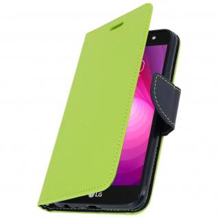 Fancy Style Flip-Cover für LG X Power 2 - Kartenfach & Standfunktion - Grün