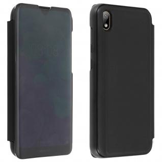 Huawei Y5 2019 , Honor 8S Flip Cover mit Spiegeleffekt & Standfunktion - Schwarz