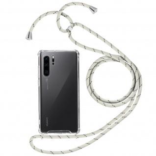 Handykette Handyhülle mit Halsband für Huawei P30 Pro - Weiß