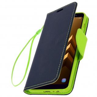 Fancy Style Flip-Cover Samsung Galaxy A8 - Kartenfach & Standfunktion - Blau