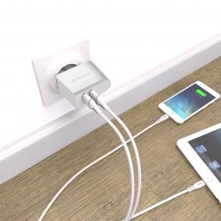 Green_e Qualcomm 3.0 4, 8A 2 USB Netzteil mit Schnellladefunktion