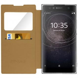 Sony Xperia XA2 Flip Cover Sichtfenster & Kartenfach Gold - Standfunktion - Vorschau 3