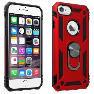 Hybrid Handyhülle mit Ring Halterung für Apple iPhone 6/6S/7/8 - Rot