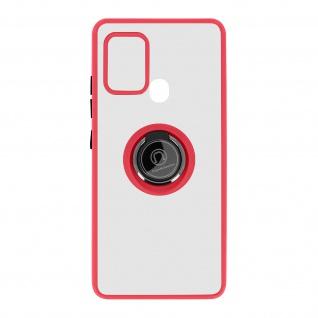 Hybrid Handyhülle mit Ring-Halterung für Galaxy A21s ? Rot