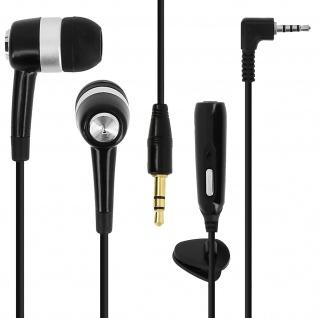2.5mm Kopfhörer mit Freisprechfunktion und 3, 5mm Klinkenadapter - Schwarz
