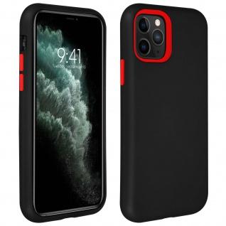 Stoßfeste Soft-Touch Handyhülle für Apple iPhone 11 Pro - Schwarz / Rot