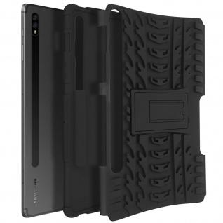Stoßfeste Schutzhülle Galaxy Tab S7 Plus 12.4, Case mit Standfunktion ? Schwarz