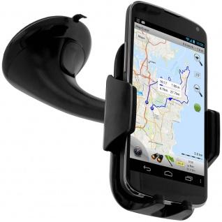 Drehbare KFZ-Halterung für Smartphones Schwarz - Saugnapf Befestigung