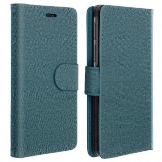 Universal Klapphülle, Etui mit Geldbörse für Smartphones Größe L - Blau