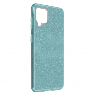 Schutzhülle, Glitter Case für Samsung Galaxy A42 5G, shiny & girly Hülle â€? Blau