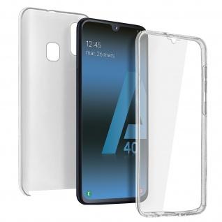 Schutzhülle für Samsung Galaxy A40, Vorder- + Rückseite ? Transparent