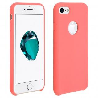 Apple iPhone 7, iPhone 8 stoßfeste Soft Touch Schutzhülle - Lachsrot