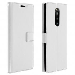 Flip Stand Cover Brieftasche & Standfunktion für Sony Xperia 1 - Weiß