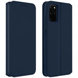 Kunstleder Cover Classic Edition Samsung Galaxy S20 Plus - Blau