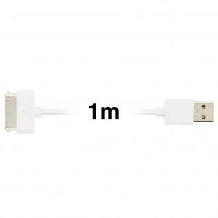 Apple 30-polig auf USB Kabel 2.1A Inkax - 1M Aufladen und Synchronisieren - Vorschau 3