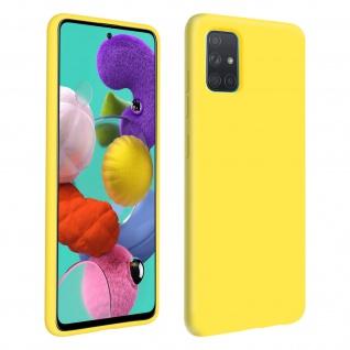 Halbsteife Silikon Handyhülle Samsung Galaxy A51, Soft Touch - Gelb - Vorschau 1