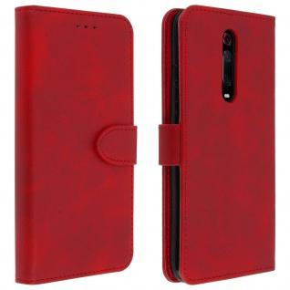 Buffalo Kunstlederetui Xiaomi Mi 9T, Standfunktion & Kartenfächer - Rot