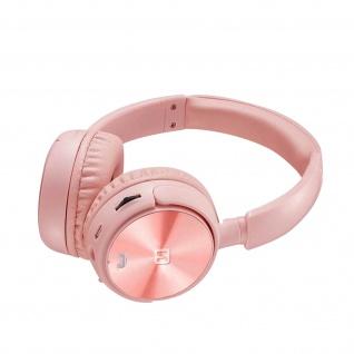 Trix Bluetooth-Headset, FM-Tuner / Micro SD-Anschluss, Swissten � Rosa