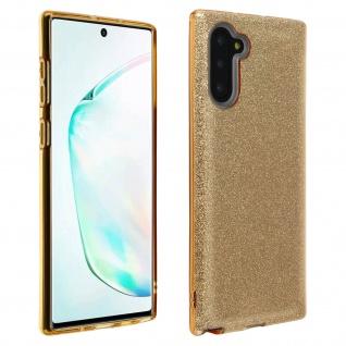 Schutzhülle, Glitter Case für Samsung Galaxy Note 10, shiny & girly Hülle - Gold