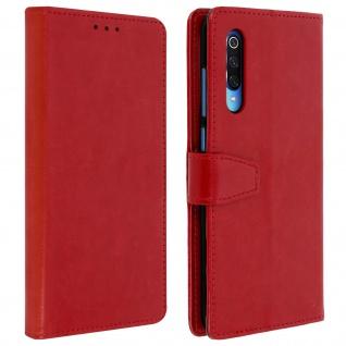 Flip Stand Cover Brieftasche & Standfunktion für Xiaomi Mi 9 - Rot