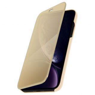 Apple iPhone XR Flip Cover mit Spiegeleffekt & Standfunktion - Gold