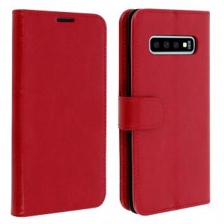 Flip Stand Cover Brieftasche & Standfunktion für Samsung Galaxy S10 - Rot