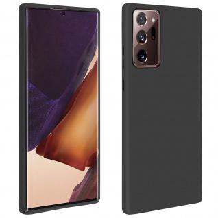 Halbsteife Silikon Handyhülle Samsung Galaxy Note 20 Ultra, Soft Touch ? Schwarz