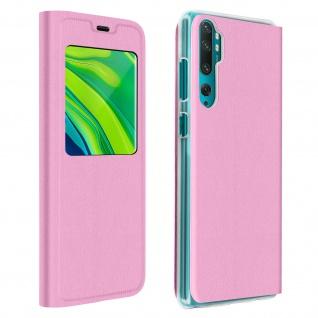 Klapphülle mit Sichtfenster für Xiaomi Mi Note 10 Lite ? Rosa