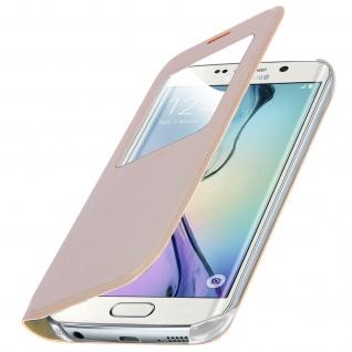 S-View Flip Book Cover, Schutzhülle mit Geldbörse für Galaxy S6 Edge - Gold - Vorschau 2
