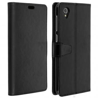 Flip Cover Stand Case Brieftasche & Standfunktion für Alcatel 1 - Schwarz
