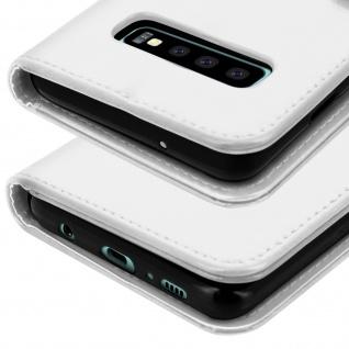 Flip Stand Cover Brieftasche & Standfunktion für Samsung Galaxy S10 - Weiß - Vorschau 5