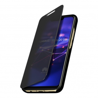 Huawei Mate 20 Lite Flip Cover mit Spiegeleffekt & Standfunktion � Schwarz