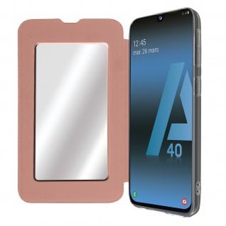 Spiegel Hülle, dünne Klapphülle für Samsung Galaxy A40 - Rosegold