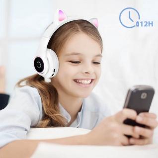 Katzenohren kabellose 5.0 Bluetooth Kopfhörer, Kitty Headset ? Weiß - Vorschau 4