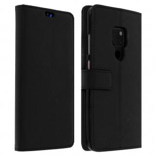 Huawei Mate 20 Flip-Cover mit Kartenfächern & Standfunktion - Schwarz