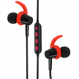 4Sport BSH-400 Bluetooth Kopfhörer, Magnetische Kopfhörer, Forever ? Rot