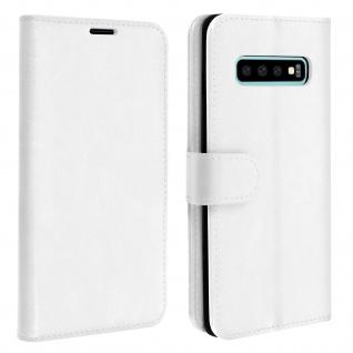 Flip Stand Cover Brieftasche & Standfunktion für Samsung Galaxy S10 - Weiß