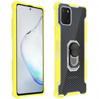 Hybrid Handyhülle mit Ring Halterung für Galaxy Note 10 Lite - Gelb