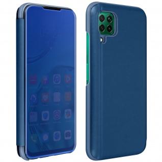 Huawei P40 Lite Flip Cover mit Spiegeleffekt & Standfunktion - Blau