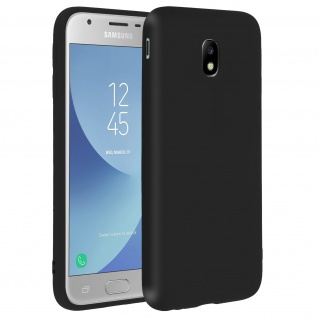 Forcell Samsung Galaxy J3 2017 Soft Touch Silikonhülle, soft case - Schwarz