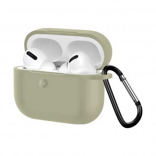 Apple AirPods Pro weiche Silikon Schutzhülle mit Karabinerhaken - Grau