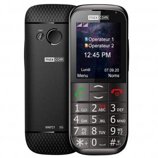 Seniorentelefon 800mAh Akku, 4.5Std. Akkulaufzeit MM721 Maxcom - Schwarz - Vorschau 2