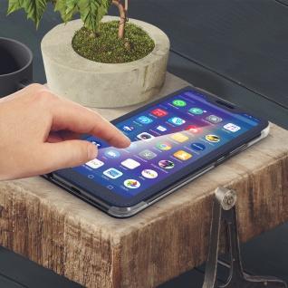 Flip Cover mit Smart View Sichtfenster für Huawei P Smart Plus - Dunkelblau - Vorschau 4