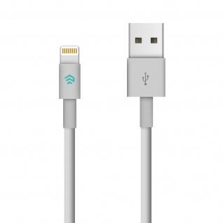 Devia Lightning / USB Ladekabel, Aufladen & Sync., Kabellänge 2m - Weiß