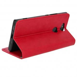 Flip Cover Stand Case Brieftasche & Standfunktion für Sony Xperia XA2 - Rot - Vorschau 2