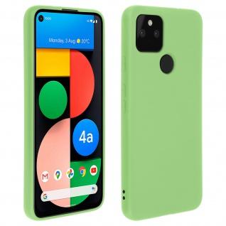 Halbsteife Silikon Handyhülle für Google Pixel 4A 5G, Soft Touch - Grün