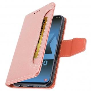Klapphülle mit Geldbörse & Standfunktion für Samsung Galaxy A40 - Rosa