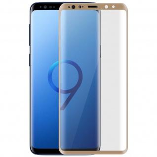 5D Full Cover Displayschutzfolie aus Glas für Samsung Galaxy S9 - Rand Gold